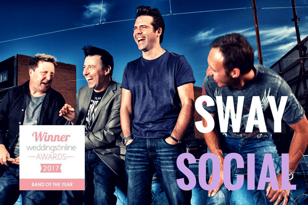 "Sway Social named ""Official Top Wedding Entertainment for 2017"" by WeddingsOnline"